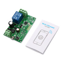 5V-12V Self-locking Sonoff WiFi Wireless Smart Switch Relay Module APP ControlHV