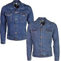 Wrangler Men's Denim Jacket Classic Western Style Jean Coat Trucker Size S-2XL