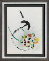 Joan MIRO Lithograph ORIGINAL in Color,  Cat. Ref (c83) 1963 w/Custom Frame