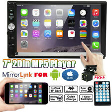 2DIN 7inch Car FM Radio Stereo MP5 Player Touchscreen Mirrorlink For Android IOS