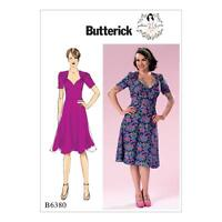 BUTTERICK SEWING PATTERN MISSES' 1940s INSPIRED DRESS GERTHIE SIZES 6 - 22 B6380