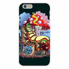 Smoking Caterpillar Pet Snail & Mushrooms FITS iPhone 6 Snap On Case Cover New