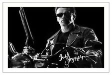 ARNOLD SCHWARZENEGGER THE TERMINATOR SIGNED PHOTO PRINT AUTOGRAPH POSTER