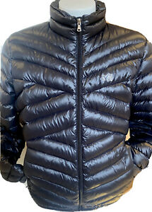 MILLET Black Goose Down Feather Long Sleeve Quilted Puffer Jacket Mens L - EUC!