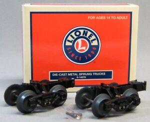 LIONEL METAL SPRUNG TRUCKS train fasttrack wheels couplers car axles 6-14078 NEW