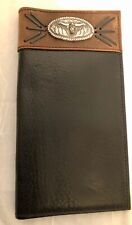 Vintage Resistol Western Men's Full Grain Leather Wallet With Silver Tone Concho