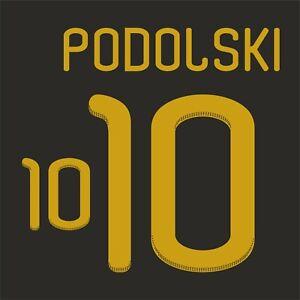 Podolski 10. Germany Away football shirt 2010 - 2011 FLEX NAMESET NAME SET PRINT