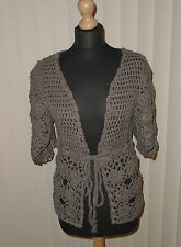 Tie Hip Length Cotton V Neck Jumpers & Cardigans for Women
