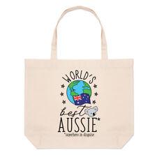 del mundo mejor Australiano Grande Bolso Playa Bolsas - Divertido Bandera