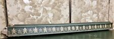 Scroll leaf acanthus painted pediment Antique french architectural salvage 39 in