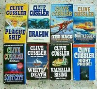 # 3 = 8 CLIVE CUSSLER BOOKS NO DOUBLES FREE SHIPPING