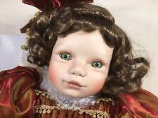 """VIRGINIA TURNER 29"""" Porcelain Emily Christmas Doll for Seymour Mann- 897/2500"""