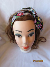 SUGAR SKULL  RETRO LANDGIRL ROCKABILLY 1950'S VINTAGE STYLE HEADSCARF HAIR WRAP