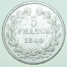 More details for france, louis philippe i 5 francs, 1840-a paris mint silver coin vf