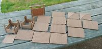 Lot of 25 PIECES Orig 50's MARX Fort Apache Stockade  WALL,GATE,2 GUARD TOWERS