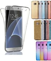 For Samsung Galaxy S8 S8 Plus Soft Clear Gel Shockproof 360° Back & Front Case