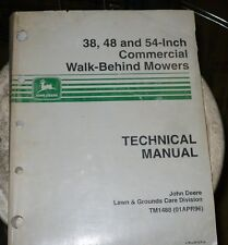 """John Deere Technical Manual for 38,48, and 54"""" Commercial Walk Behind Mowers"""