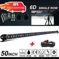 "Single Row 50""inch 2350W LED Light Bar Combo Offroad Truck 4WD SUV ATV Boat 52"""
