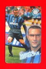 CALCIO CALLING 1997-98 Panini 1997 - Card n. 9 - BERGOMI - INTER -New