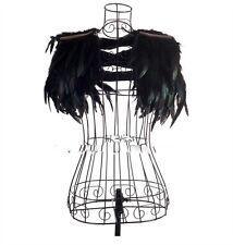 Visaul Gothic Punk Rock Feather Lady Gaga sexy fashion Show clothes Shawl Vest