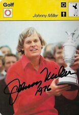 Johnny Miller Autographed Sportscaster Recontre Trading Card