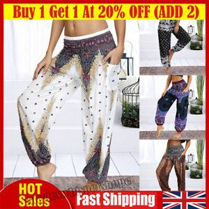 Women's Harem Trousers Yoga Hippy Pants Ladies Dance Baggy Thai Loose Boho Pant