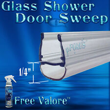 "DS102- 5/16"" Glass Shower Door Seal, wipe, sweep - 32"" long FREE Valore bottle"