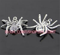 20pc Retro Tibetan Silver Spider Animal Pendant Charms Beads DIY Findings 93AF