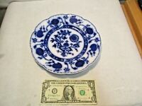 "vintage Johnson Bros. Flow Blue Holland Onion Pattern 8 7/8"" Plate in good shape"