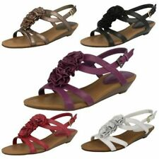 Leather Platforms & Wedges Floral Shoes for Women