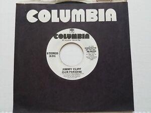"JIMMY CLIFF - Club Paradise 1986 REGGAE POP 7"" PROMO (NM)"