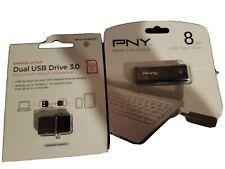 Dual Usb Sandisk 128 Gb Pny 8 Gb N8b Lot