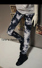 Dye Ink Jeans Pants for BJD 1/6 1/4 MSD 1/3 SD17 Uncle SD Doll Clothes CMB32