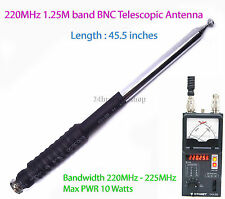 Ham Amateur Radio 1.25M 220MHz - 225MHz BNC 45.5 inches Long Telescopic Antenna