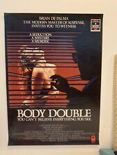 BODY DOUBLE rare Australian CBS-Fox VHS VIDEO POSTER Brian DePalma horror movie