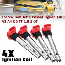 For VW Golf Jetta Tiguan AUDI S3 A4 A5 A6 Q5 TT 1.8 2.0T Ignition Coil Pack 4x