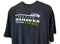 Seattle Seahawks Majestic NFL Logo T-Shirt Men's Big and Tall, Navy, 6XL, nwt