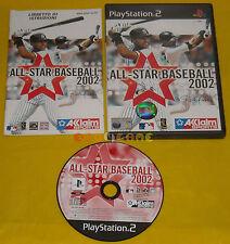 ALL STAR BASEBALL 2002 Ps2 Versione Ufficiale Italiana 1ª Edizione •••• COMPLETO