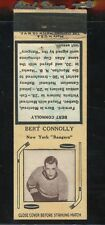 1936-39 Diamond Matchbook Hockey Type 2   Bert Connolly   NY Rangers   LOOK !!