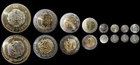 Mexico, 8 Pieces Coin SET, 5 10 20 50 C. 1 2 5 10 Pesos, UNC, 1992 2103, BIMETAL