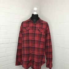 Timberland Earthkeepers Red Check Lumberjack Shirt Size XL Extra Large