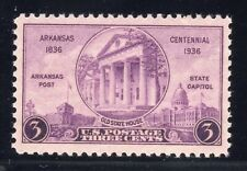 US STAMP #782 — 3c ARKANSAS XF MINT GRADED 90
