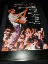 Bryan Adams Waking Up The Neighbor's Rare Original Radio Promo Poster Ad Framed!