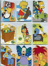 Simpsons 10th Anniversary Complete Cut Up [Die Cut] Chase Card Set C1-9