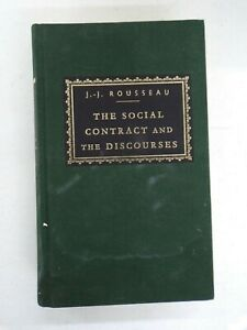 The Social Contract and The Discourses (Everyman's Library) - Hardcover - GOOD