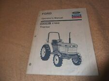 Ford New Holland Model 1720 Tractor Operators Manual