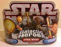 2007 HASBRO STAR WARS GALACTIC HEROES SD FIGRIN D'AN/HAMMERHEAD SET MIP