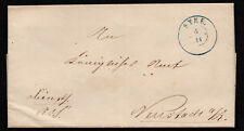 $German Stampless Cover, Syke to Neustadt (1862)