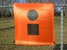 Boating Distress Flag 3x3 ft Square SOS Signal Boat Emergency Orange Black Help