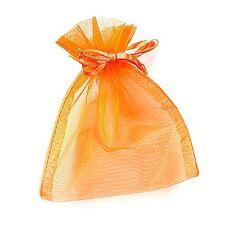 2 Organzasäckchen Organzabeutel orange 10 x 8 cm